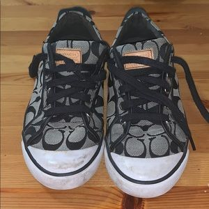 Lace up coach fashion sneakers